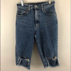 Lucky brand La.Ca. Jean cut capris women's 4/27 1C